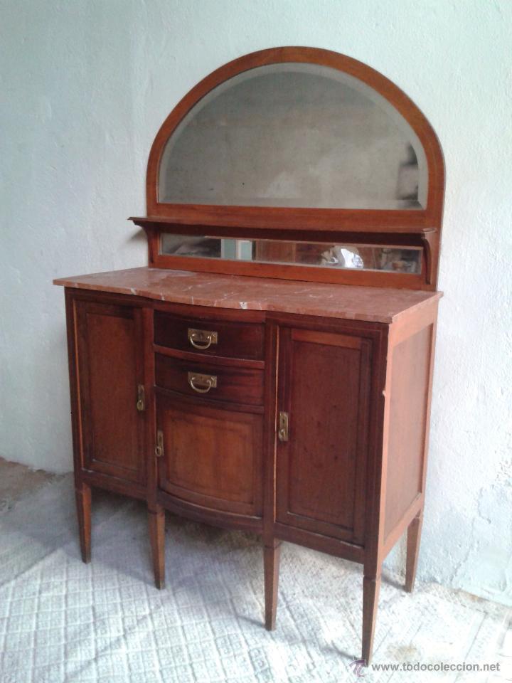 Mueble antiguo con espejo estilo ingl s a os 20 comprar aparadores antiguos en todocoleccion - Muebles estilo antiguo ...