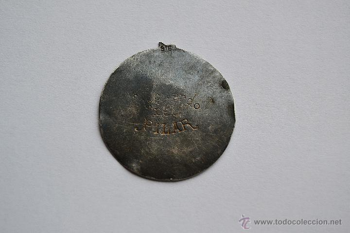 Antigüedades: MEDALLA VIRGEN DEL PILAR - Foto 2 - 53546771