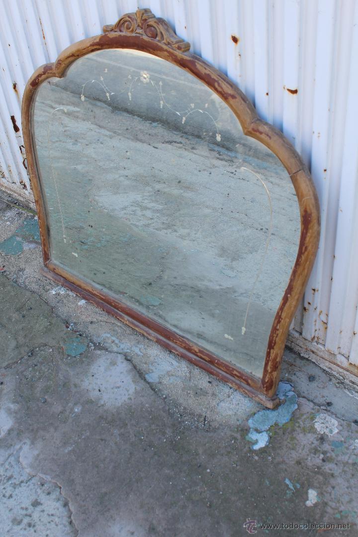 Espejo de madera para restaurar comprar espejos antiguos for Antiguedades para restaurar