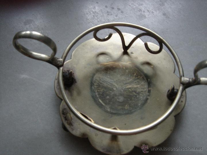Antigüedades: Azucarero de alpaca inglesa - Foto 3 - 53564273