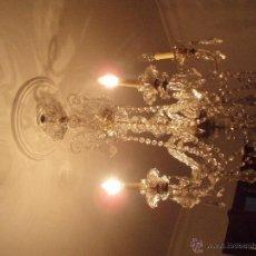 Antigüedades: LAMPARA DE CRISTAL. Lote 50113103