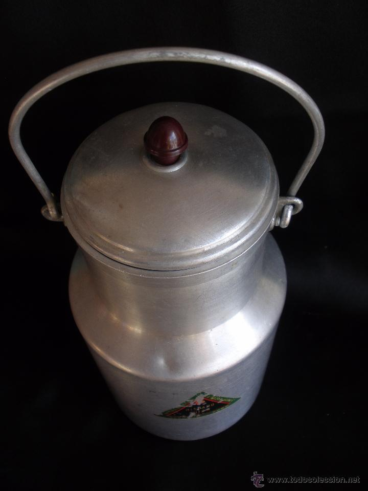 Antigüedades: Antigua lechera domestica en aluminio Hispano Suiza - Foto 2 - 53581613