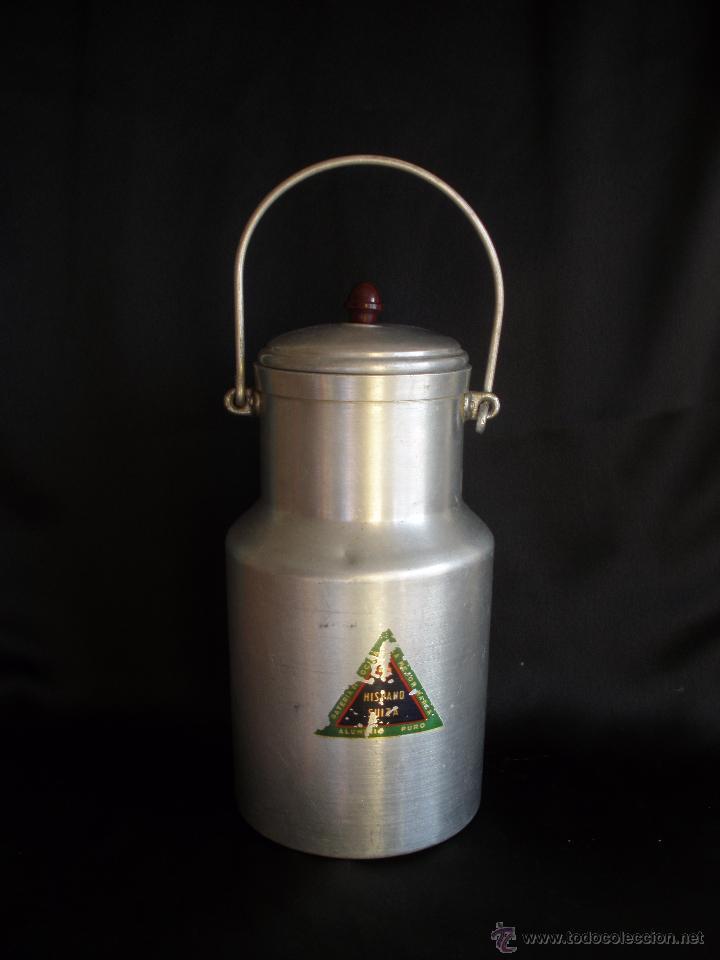 Antigüedades: Antigua lechera domestica en aluminio Hispano Suiza - Foto 4 - 53581613