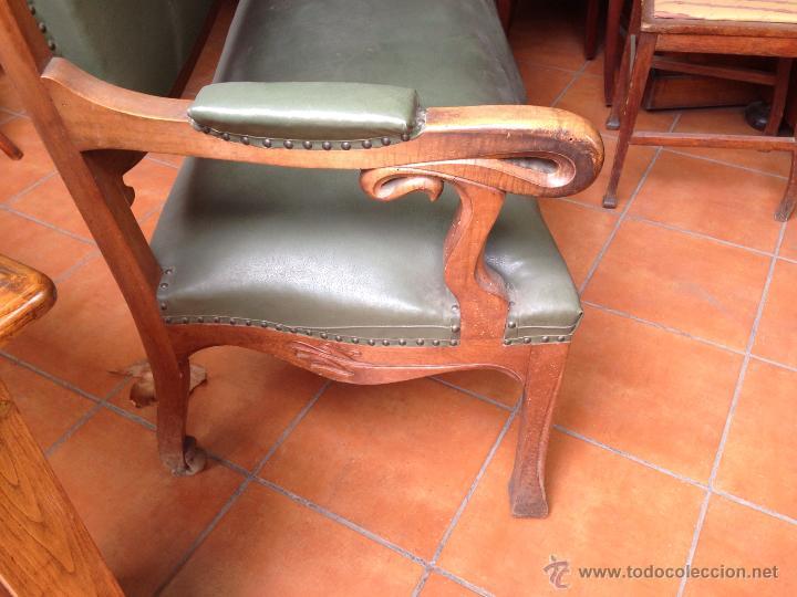 Antigüedades: Sillón sofå 3 plazas modernista - Foto 2 - 53584351