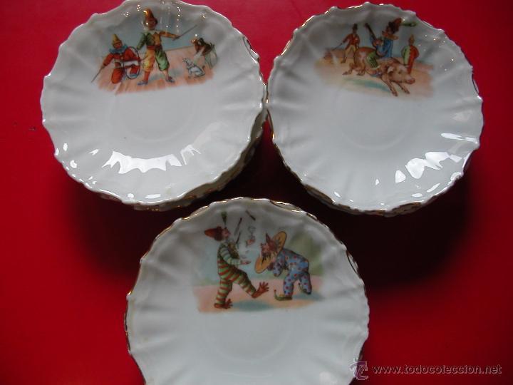 12 PLATITOS CON 3 MOTIVOS DIFERENTES (4+4+4).SILESIEN GERMANY (Antigüedades - Porcelanas y Cerámicas - Otras)