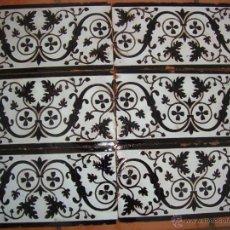 Antigüedades: LOTE AZULEJOS (MENSAQUE RODRIGUEZ). Lote 53592894