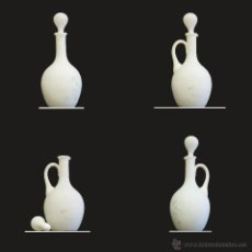 Antigüedades: ANTIGUA JARRA OPALINA MATE BLANCA CON TAPA. Lote 53600680