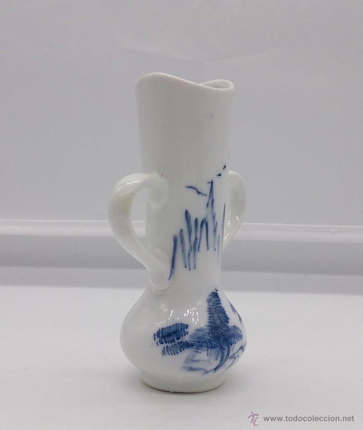 Antigüedades: Palillero antiguo en porcelana Holandesa estilo delft con motivos de paisaje policromados a mano . - Foto 5 - 53603216