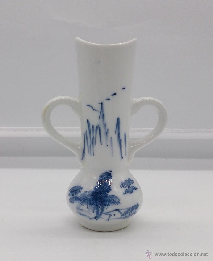 Antigüedades: Palillero antiguo en porcelana Holandesa estilo delft con motivos de paisaje policromados a mano . - Foto 6 - 53603216