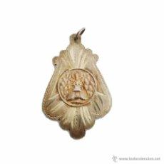 Antigüedades: ANTIGUA MEDALLA DE PLATA CINCELADA CON CONTRASTE-N.S.MONTSERRAT. Lote 61640650