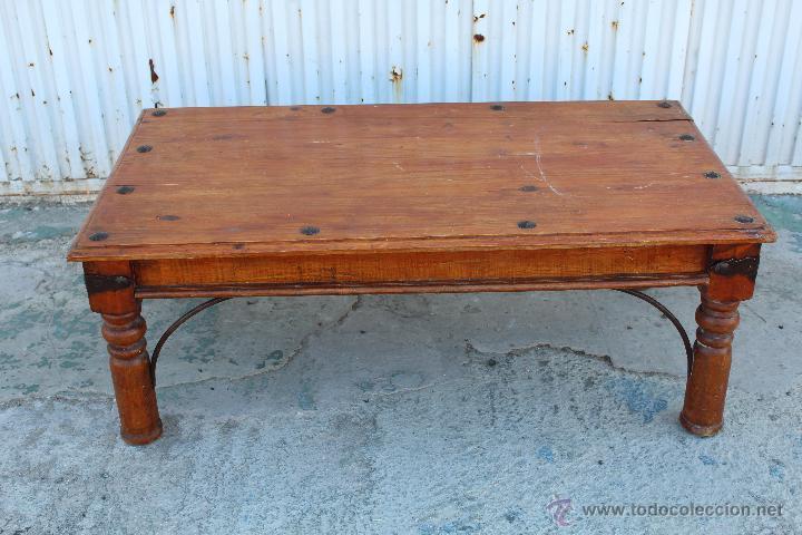 mesa en madera rustica made in mexico antigedades muebles antiguos mesas antiguas - Mesa De Madera Rustica