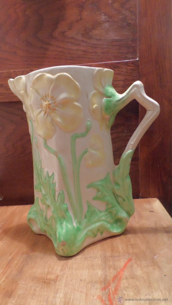 Antigüedades: bonito picher antiguo ceramica valencia manises - Foto 4 - 53624189