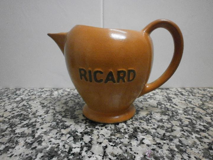 Antigüedades: JARRA RICARD DE POCELANA EN LA BASE SELLO Y NUMERADA - Foto 2 - 53633761