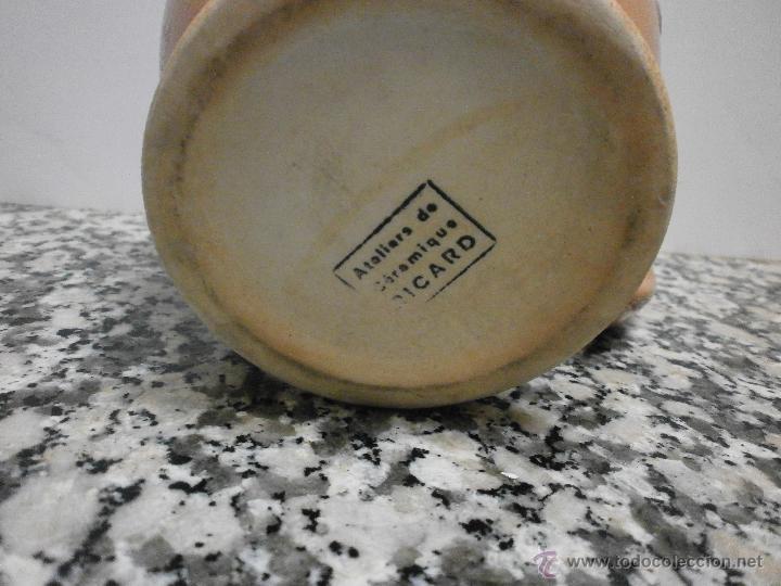 Antigüedades: JARRA RICARD DE POCELANA EN LA BASE SELLO Y NUMERADA - Foto 3 - 53633761