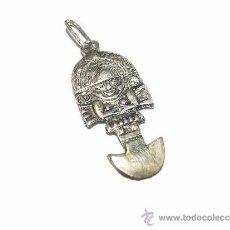 Antigüedades: PEQUEÑO Y BONITO COLGANTE AMULETO.......TUMI........DE PLATA...CON CONTRASTE 925.. Lote 114438443