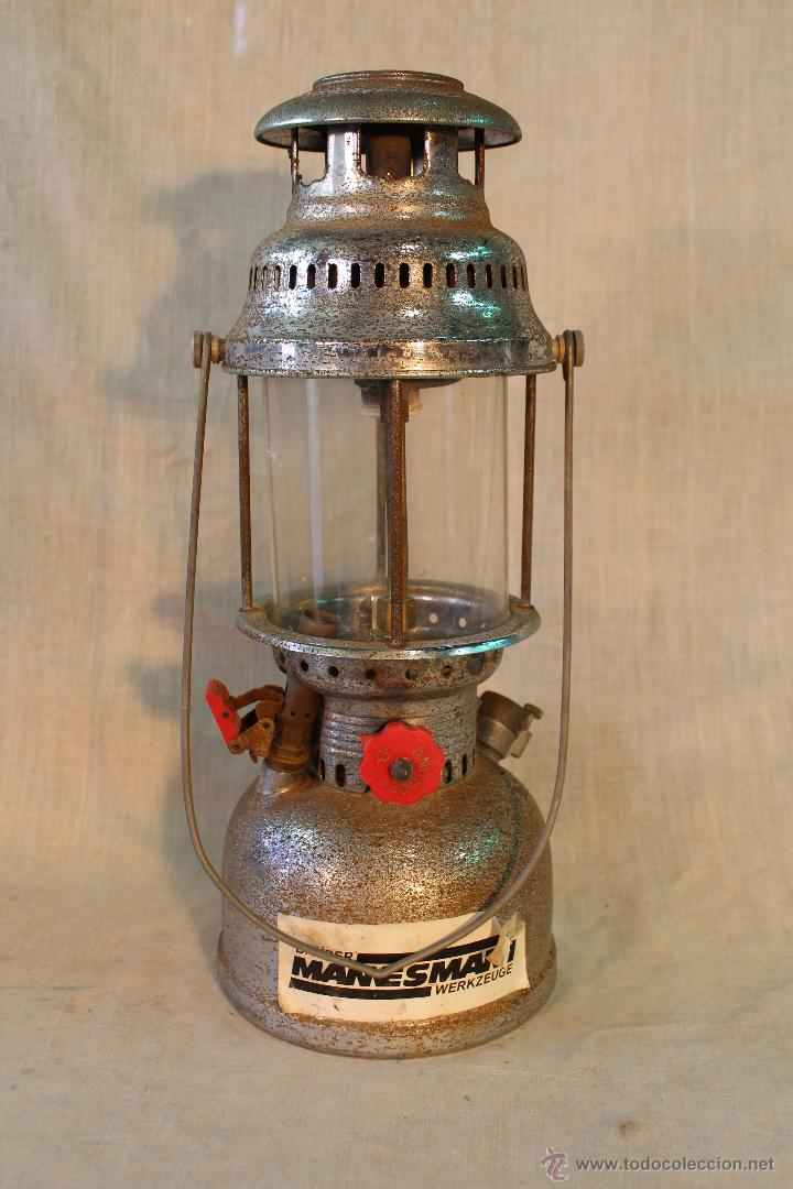 LAMPARA DE PETROLEO BRUDER MANNESMANN WERKZEUGE (Antigüedades - Iluminación - Lámparas Antiguas)