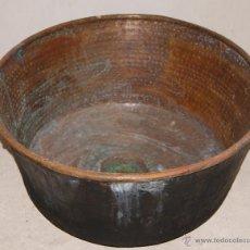Antigüedades: ANTIGUO CALDERO DE COBRE , CALDERA DE MATANZA.. Lote 53648368
