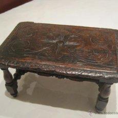 Antigüedades: BANQUETA REPOSAPIES ANTIGUA. Lote 53648494