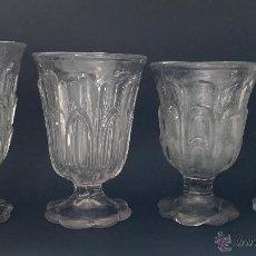 Antigüedades: CUATRO COPAS CRISTAL DE CARTAGENA. Lote 53655158