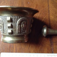 Antigüedades: ALMIREZ DE BRONCE ANTIGUO CON MAZO. Lote 53660555