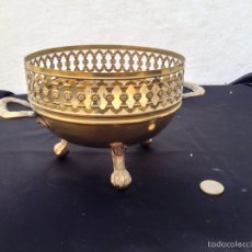 Antigüedades: MACETERO DE BRONCE. Lote 53660763
