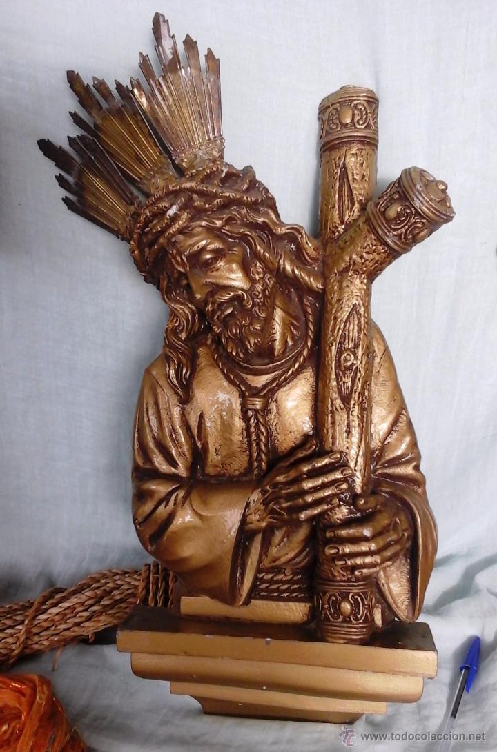 Jesucristo Cargando La Cruz En Resina Y Metal Comprar