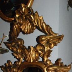 Antigüedades: ANTIGUA CORNUCOPIA TALLA MADERA CON ESPEJO. Lote 53683238