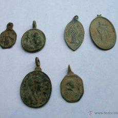 Antigüedades: LOTE DE 6 MEDALLAS ANTIGUAS. Lote 53688888