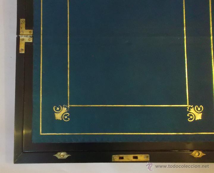 Antigüedades: Escritorio inglés S.XIX de Palorosa y latón - Foto 15 - 53690832