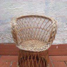 Antigüedades: SILLON DE MIMBRE INFANTIL. Lote 53693704