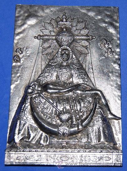 VIRGEN DE LAS ANGUSTIAS PLACA / APLIQUE VIRGEN DE LAS ANGUSTIAS-04 (Antigüedades - Religiosas - Varios)