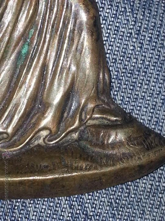 Antigüedades: cristo jesucristo nazareno antiguo metal muy bien trabajado detente para puerta portada bilbia ... - Foto 2 - 53700893