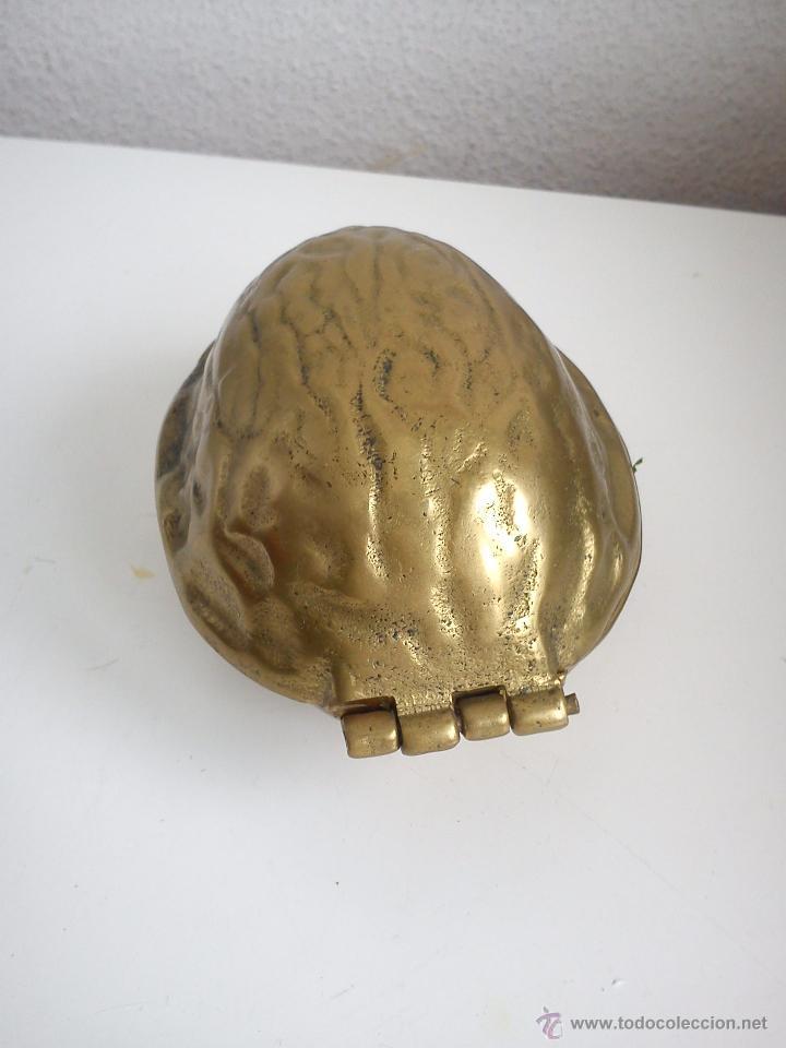Antigüedades: MAGNIFICO PARTE NOZES RARO DE ENCONTRAR HECHO DE HIERRO METALISADO DORADO - Foto 3 - 60888349