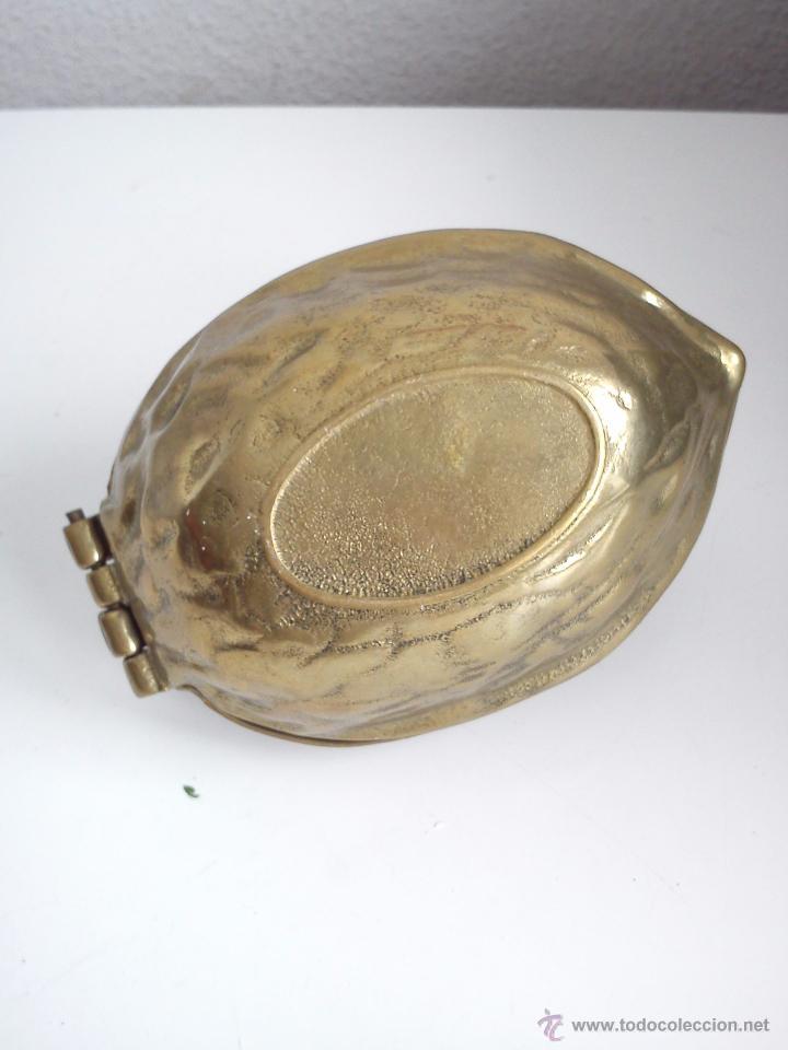 Antigüedades: MAGNIFICO PARTE NOZES RARO DE ENCONTRAR HECHO DE HIERRO METALISADO DORADO - Foto 7 - 60888349