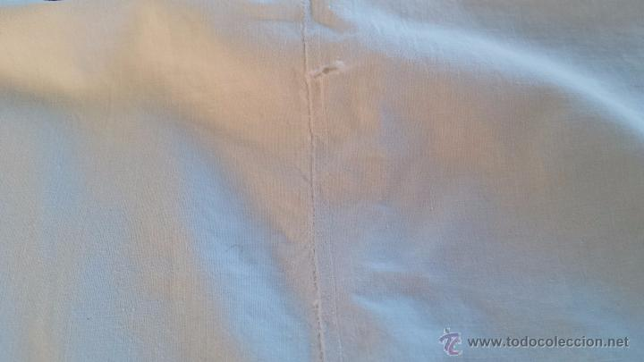 Antigüedades: antigua sabana bajera bordado inicial a, algodon - Foto 3 - 53701104