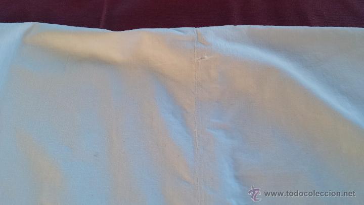 Antigüedades: antigua sabana bajera bordado inicial a, algodon - Foto 4 - 53701104