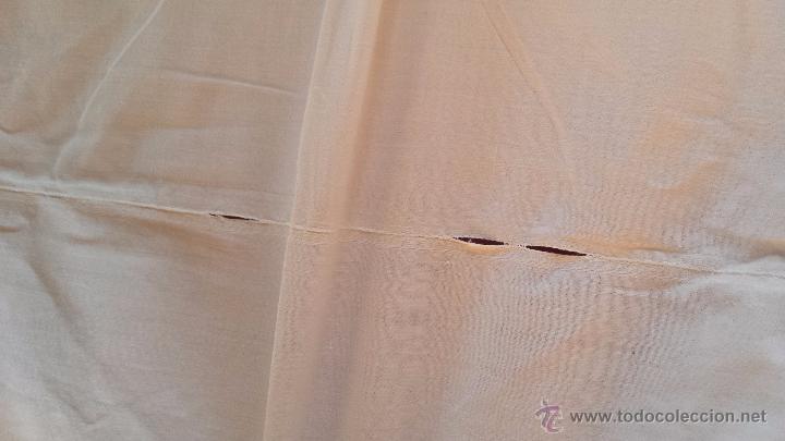 Antigüedades: antigua sabana bajera bordado inicial a, algodon - Foto 6 - 53701104