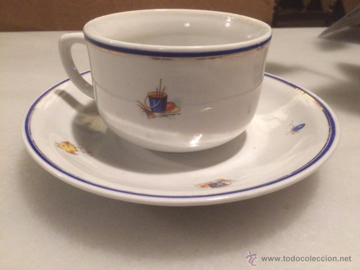Antigua taza vajilla de cafe con leche en por comprar for Taza de cafe con leche