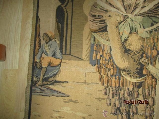 Antigüedades: PRECIOSO GRAN TAPIZ CON ESCENA ÁRABE - 175 cm x 125 cm - Foto 3 - 53707724