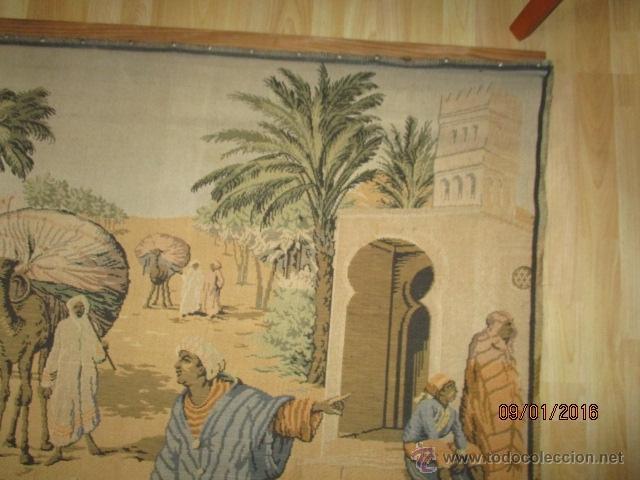 Antigüedades: PRECIOSO GRAN TAPIZ CON ESCENA ÁRABE - 175 cm x 125 cm - Foto 6 - 53707724