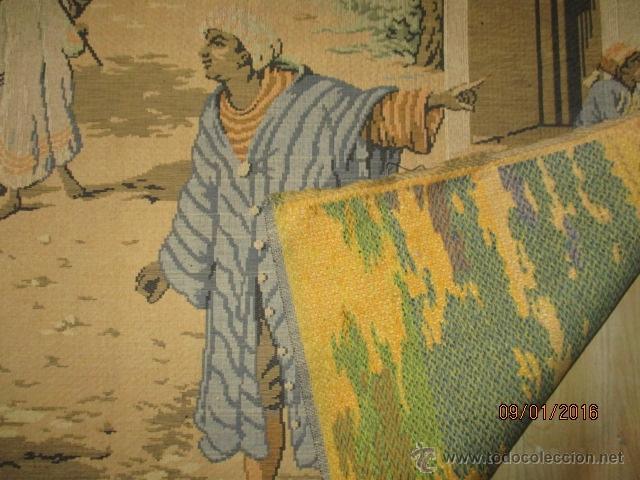Antigüedades: PRECIOSO GRAN TAPIZ CON ESCENA ÁRABE - 175 cm x 125 cm - Foto 7 - 53707724
