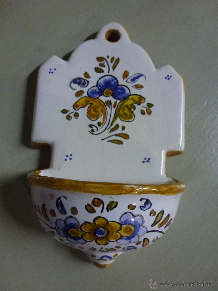 Antigüedades: Piqueta, benditera, ceramica de Talavera. - Foto 4 - 53709011