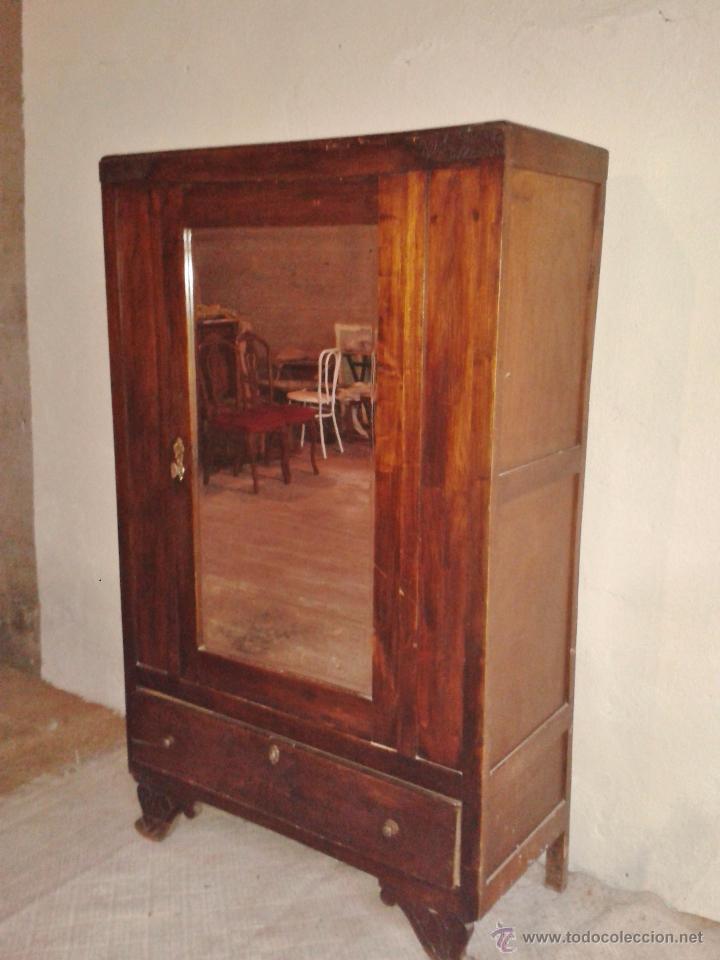 armario antiguo con espejo años 30. mueble anti - Comprar Armarios ...