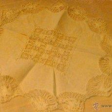 Antigüedades: ANTIGUO TAPETE DE ALGODÓN Y BOLILLOS.. Lote 53709888