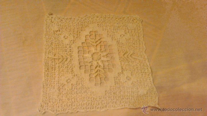 Antigüedades: tapete hecho de bolillo para terminar algún mantel,pieza central. - Foto 2 - 53709965