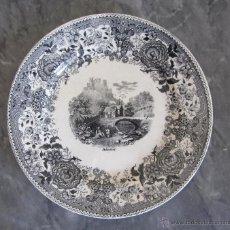 Antigüedades: ANTIGUO PLATO DE PORCELANA LOZA VILLEROY & BOCH ALEMANIA 1874-1909 FINALES SIGLO XIX. Lote 53710775