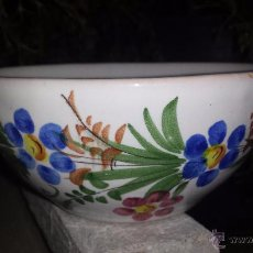 Antigüedades: TAZON DE CERAMICA PINTADO A MANO, LARIO. Lote 53713814