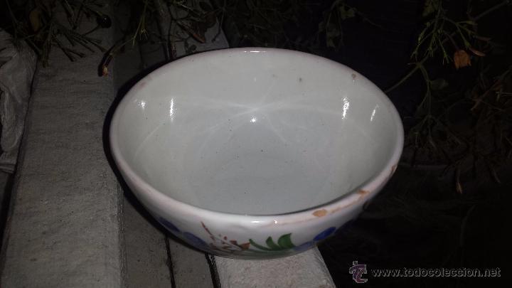 Antigüedades: precioso tazon pintado a mano, firmado lario - Foto 3 - 53713838