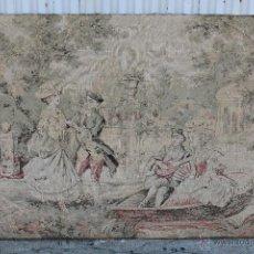 Antigüedades: TAPIZ CON ESCENAS DE GALANTERIA. Lote 53718781