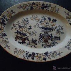 Antigüedades: RARISIMA CERAMICA BANDEJA PLATO 1862 PICKMAN Y Cª MEDALLA EXPOSICIONES LONDRES CHINA OPACA SEVILLA. Lote 53722701